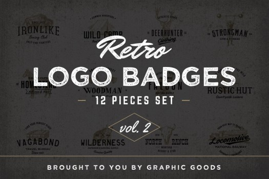 Graphic Goods - Retro Logo Badges vol. 2