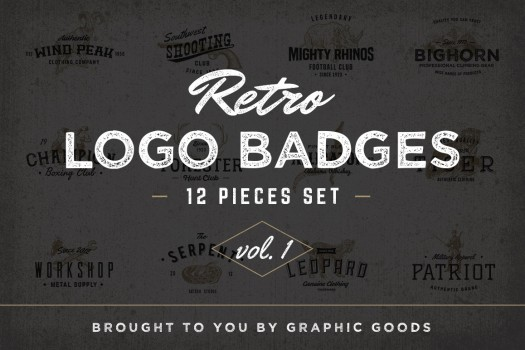Retro Logo Badges vol. 1 - Graphic Goods
